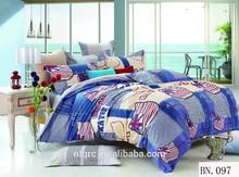 100% cotton 3d printed bedding set comforter luxury wedding 3d bedding fabric cheap king size bed sheet set