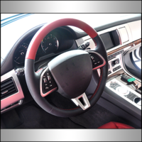 Custom design genuine leather replacement steering wheels covers