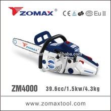 ZOMAX power tool 39.6cc 1.5kW ZM4000 chinese chainsaw 2 stroke gasoline