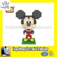 Mickey mouse funny cartoon design plastic Loz nano block toys