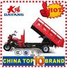 China Hot Popular 3 wheel cargo tricycle new three wheel motorcycle in red with Dumper