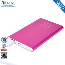 Veaqee universal ultra slim battery portable mobile power bank