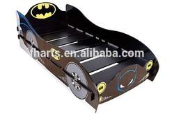 Batman car bed design in toddler bedroom