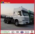 configuration haute Sino Howo semi-remorque camion 6X4 420hp tracteur camion / motrice cabine A7