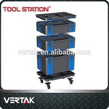Tragbare kunststoff werkzeugkasten, koffer leere werkzeugkiste, Mechaniker werkzeugkoffer mit rollen