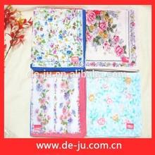 Provide Handkerchief Embroidered Printing Silk Promotion Printed Children Handkerchiefs