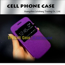 TPU + leather cover case for apple , for oppo leather case, for nokia X XL tpu leath case