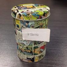 Round gift tin box