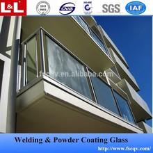 Balcon balustrade en verre / main courante en aluminium garde - corps