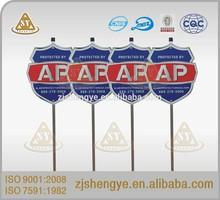 American decorative custom plastic yard sign stakes