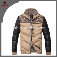 Wholesale Fashion mens slim fit winter coat