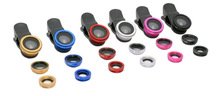 Universal Clip 3 in 1 Lens 0.67x Wide Angle Macro Phone Lens Fisheye lens for any Smartphones with Retail Package Good Qualiy