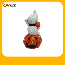 Halloween ceramic pumpkin and ghost lighted decorations wholesale