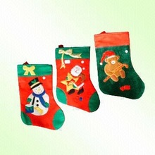 15012123 2015 felt santa Christmas stocking,home decoration,ornament