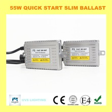 Super slim 0.1s quality quick start 12v 55w car fast bright hid ballast for Xenon conversion kit H1H3 H7 H4h/l bulbs