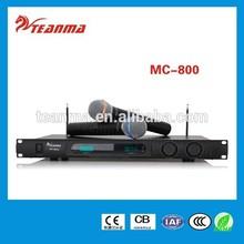 MC-800 UHF Noise-suppression Cordless Microphone