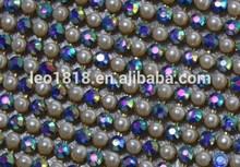 Hot fix aluminum base pearl and rhinestone transfer 45*120cm