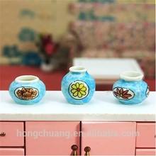 1/12 scale blue miniature ceramic accessior-3 mini porcelain