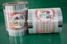 Machine cut PS cup cover film roll laminated transparent film plastic sealing film roll