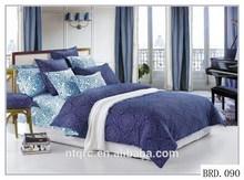 Luxury wedding comforter set size king 100% cotton home textile bed sheet bedroom set 3d reactive print cotton bedding