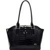 2014 China wholesale luxury designer black patent leather handbag