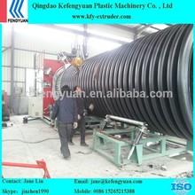 HDPE Double wall corrugated pipe making machine