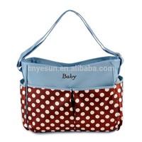 Multifunctional Nylon Baby Diaper Bags Dot Printing Mummy Bag