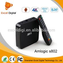 Amlogic s802 Quad Core CPU Octocore Mali-450 3D GPU 2GB DDR3 8GB Android 4.4.2 Kit Kat XBMC/Kodi TV Box, 4K Smart TV Box M8