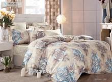 Reactive flower printed teen bedding set european style 40s tencel exclusive bedding sets cheap luxury queen size bed sheet set
