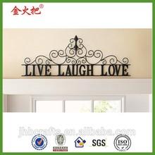 Scrolling Black Live Laugh Love Metal Wall Art