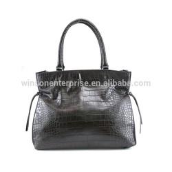 Latest elegant Croc PU leather handbag 2015 Lady tote bag wholesale