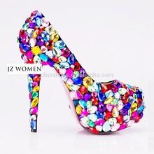 OW07 designer shoes wholesale women high heels colorful platform shoes