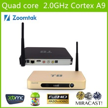 Zoomtak T8 android quad core 4K media player smart tv box OTT tv box porn video android tv box arabic channel free sex