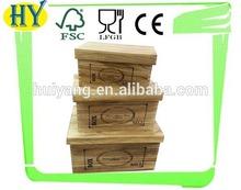 customized hot selling antique wood storage box