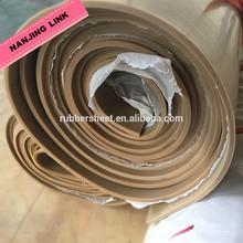 """pure gum tan color 45 shore rubber sheet 1/32"""" 2/32"""" 1/8"""""""
