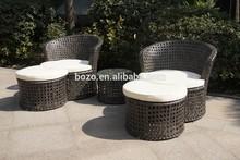 garden wicker sofa stool ,outdoor rattan sofa furniture