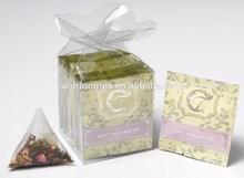 Award Winning Clear Gift Box of 8 Tea Envelopes with Pyramidal Teabags - Sweet Memories Tea