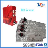 Food grade laminated plastic 3L 5L disposable wine bag