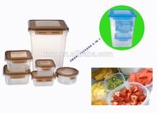 Airtight food storage with lock,plastic food storage box