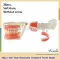 A15 modelo 28 pcs goma macia removível modelo padrão dentes