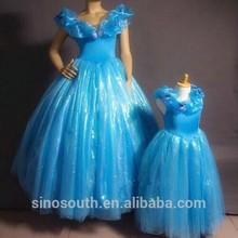 Adultos de la flor de la boda de cinderella vestidos para niñas