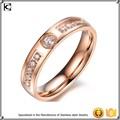 316l açoinoxidável casamento de rosa de ouro anel de casamento projetos