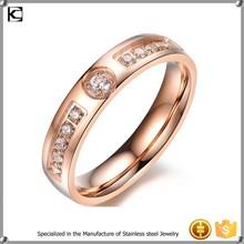 316l Stainless steel wedding rose gold wedding ring designs