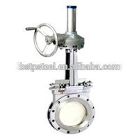 Flange stainless steel gear handwheel knife Gate valve DIN /JIS / ANSI API6D CF8 304 pn16 PN25