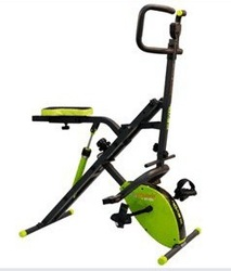 NEW ab crunch with MAGNETIC bike/portable exercise equipment