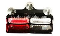 12v/24v,1w led strobe warning light for car visor, green/purple/amber