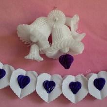 Paper garland heart shaped paper lantern