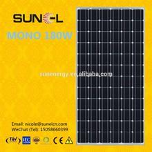 Hot selling A grade high efficiency MONO 180W solar PV panel