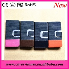 2015 Newest Colorful Jeans Leather Case with Credit card Slot for iPhone6 Mobile Phone Leather Wallet Case for iphone 6