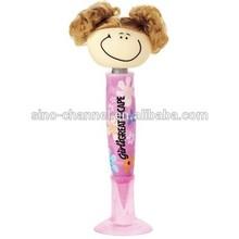 Promotional smiling girl cheap ballpoint pen